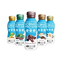 Iconic Protein Drinks, Sample Pack (5 Flavors) | Low Carb Protein Shakes | Grass Fed, Lactose-Free, Gluten-Free | Low Calorie Snack or Healthy Breakfast | Keto Friendly