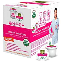 SOLLO Detox & Coffee Pods With Superfoods - Boosts Metabolism & Weight Loss, 8hr Slimming And Cleaning, Compatible With 2.0 K-Cup Keurig Brewers, USDA Certified Organic, Proven Effective, 24 capsules