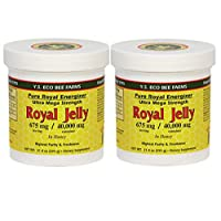 Y.S. Eco Bee Farms, (2 Pack) Royal Jelly, in Honey, 675 mg, 1.3 lbs (595 g)