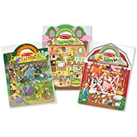 Melissa & Doug Puffy Sticker Play Set 3-Pack, Safari, Chipmunk, Farm Reusable Sticker Activity Pads (Double-Sided Background, Great Gift for Girls and Boys – Best for 4, 5, 6, 7 and 8 Year Olds)