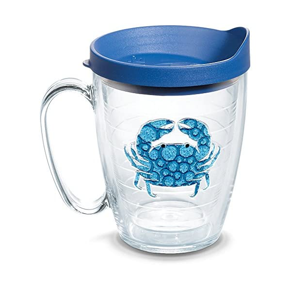 Clear Tervis 1284930 Bright Cabanas Tumbler with Wrap and Turquoise Lid 16oz Mug