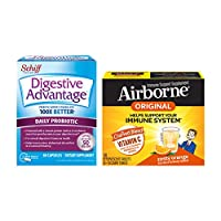 Daily Probiotic Capsule - Digestive Advantage with Vitamin C 1000mg - Airborne Zesty Orange Effervescent Tablets