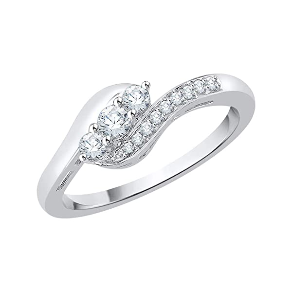 1//4 cttw, Diamond Wedding Band in Sterling Silver G-H,I2-I3 Size-6