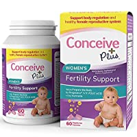 Conceive Plus Women's Fertility Supplements: Balance Your Cycle and Hormones - Fertility Blend with Folate