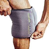 THERMA-STRETCH Knee Heating Pad - Microwavable Compression Wrap for Arthritis, ACL, PCL, Tear, Joint Pain Relief and Recovery – Natural, Adjustable and Stretchable Therapy that STAYS