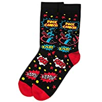 Beat Cancer Socks - Funny Novelty Gift for Cancer Survivor or Chemo Patient - For Men and Women