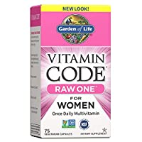 Garden of Life Multivitamin for Women - Vitamin Code Raw One Whole Food Vitamin Supplement with Probiotics, Vegetarian, 75 Capsules *Packaging May Vary*