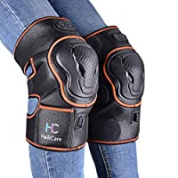 Massaging Heated Knee Brace Wrap Support, Wireless Rechargeable Heat Therapy Heating Pad Massager Physiotherapy Heat and Vibration Massage for Joint Pain, Arthritis Meniscus Pain Relief for Parent