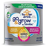 Go & Grow by Similac Toddler Drink with 2'-FL HMO for Immune Support, with 25 Key Nutrients to Help Balance Toddler Nutrition, Non-GMO Milk-Based Powder, 24-oz Can