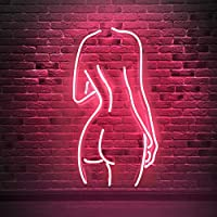 Neon Sign Girls Beer Bar Neon Light Pink Handmade Real Glass Lamp 12 x 10 Wall Sign for Bedroom Pub Hotel Recreation Wedding Party Decor Prostar