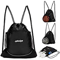 XL Capacity Heavy-Duty Sackpack Backpack GYMBG-GRY For Sports /& Workout Gear Waterproof Legendary Drawstring Gym Bag