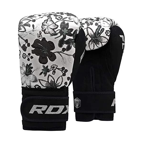 RDX Women Boxing Gloves For Training And Muay Thai Flora Skin Ladies Mitts New