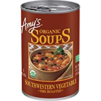 Amy's Organic Fire Roasted Southwestern Vegetable Soup, Vegan, 14.3-Ounce - Pack of 12