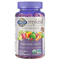 Garden of Life - mykind Organics Prenatal Gummy Vitamins - Berry - Organic, Non-GMO, Complete Vegan Multi - Methyl B12, D3 & Folate - Gluten Free - 120 Real Fruit Chew Gummies *Packaging May Vary*