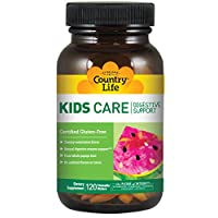 Country Life - Kids Care Digestive Support, Watermelon Flavor - 120 Chewable Wafers