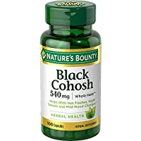 Nature's Bounty Black Cohosh Root Pills and Herbal Health Supplement, Natural Menopausal Support, 540 mg, 100 Capsules