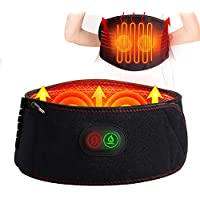 Heating Waist Massage Belt Waist Brace Wrap Electric Rechargeable Battery Lower Back Heating Pad for Abdominal and Back Pain Relief Lumbar Spine Arthritis