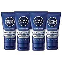 NIVEA Men Maximum Hydration Protective Lotion - Broad Spectrum SPF 15 Moisturizes and Protects - 2.5 fl. oz. Tube (Pack of 4)