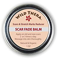 Wild Thera Scar Remover for Face, Stretch Marks, Acne Scars, Pregnancy Scars, Surgery Scars and burns. Natural scar cream for old scar, back acne, kids scar with Shea butter, Jojoba and Avocado Oil.