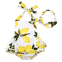 Baby Girls 2pcs Sets Cotton Ruffles Romper Outfits Clothes