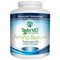 AminoRestore - Amino Acid Formula Rx - Chocolate Flavor - Essential Workout, Weight Loss – Provides Nutrients, Vitamins, Minerals – Optimise Metabolism, Energy, Body Composition & Gut Health – Suitable for Vegetarians & Dairy Free - Guaranteed By Taylor MD Formulations