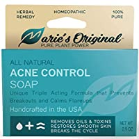 Marie's Original Acne Bar Soap Cleanser for Face and Body   Acne Treatment with Bentonite Clay, Organic Oat Bran, Noni Fruit Powder, White Willow   Natural Body Wash for Pimples and Scars