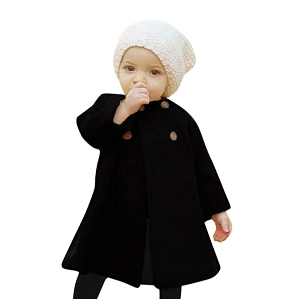 FORESTIME Fashion Baby Girsl Button Knitted Sweater Cardigan Coat Casual Solid Woolen Coat Winter Warm Tops