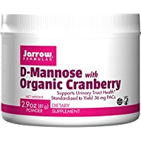 Jarrow Formulas D-Mannose with Organic Cranberry, Supports Urinary Tract Health, 2.9 oz (81 g) Powder