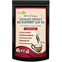 Red Raspberry Leaf Tea, Fertility tea with Rasberry leaf for women to get pregnant fast, induce labor and aid uterus health - Caffeine Free - 30 Tea Bags   Made in USA