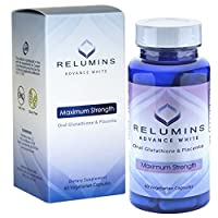 3 Bottles of Relumins Advanced White Oral Glutathione Whitening Formula Capsules - Max Strength - NEW AND IMPROVED now with Rose Hips