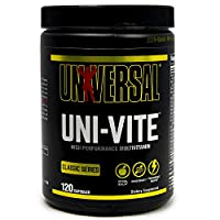 Universal Nutrition Uni-Vite Capsules -  30 day supply of highly potent and effective vitamins and minerals, 120 Count