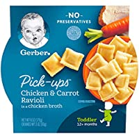 Gerber Pick-ups, Chicken & Carrot Ravioli in a Chicken Broth, 6 Ounce (pack of 8)