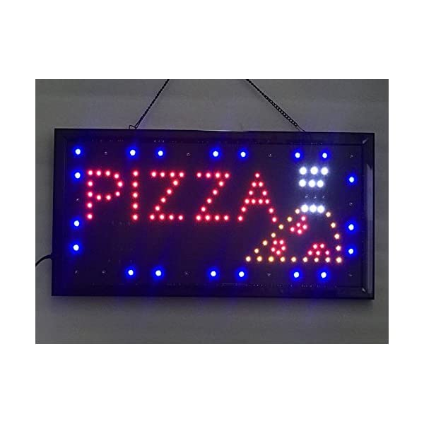 window shop for business bar hotel Pizza walls UPSUN Neon Sign OPEN,LED business open sign advertisement board Electric Display Sign Two Modes Flashing /& Steady light
