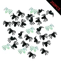 Novelty Treasures Spooky Glow in the Dark Plastic Spider Rings 72 Piece GID Party Pack
