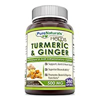 Pure Naturals Turmeric Plus Ginger 500 mg, Capsules -Antioxidant Power - Provides Anti-Inflammatory Support (360 Count)