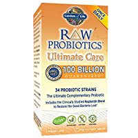 Garden of Life - RAW Probiotics Ultimate Care - Acidophilus and Bifidobacteria Live Culture Probiotic - Gluten, Soy, and GMO-Free - 30 Vegetarian Capsules (Shipped Cold)
