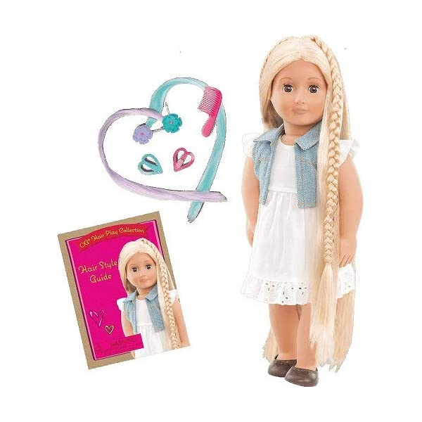 For 18 Inch Dolls like American Girl Dolls /& Bitty Baby Doll Hairbrush in Pink Hair Care Doll Accessories Perfect Size Doll Wig Hair Brush Doll Items by Sophias