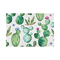 YUEND Non Slip Table Mats 1PC Pattern Tropical Cactus Flower Tree Kitchen Home for Dinning Table Heat Durable Resistant Placemats Bulldog