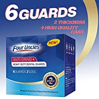 Mouth Guard for Teeth Grinding Clenching Bruxism-6 BPA FREE New Upgraded FOUR UNCLES Anti Dental Night Guard for sleep Moldable, Including 4 Regular and 2 Heavy Duty Guard & Travel Retainer Case