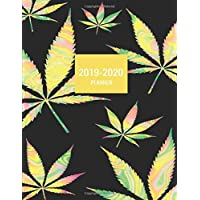 2019-2020 Planner: Hologram Effect Print Paper Marijuana Cannabis Leaf Weed Theme Softcover 2019 and 2020 Weekly and Monthly Organizer (2019-2020 Weekly and Monthly Planners)