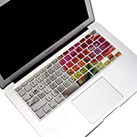 Funut Silicone MacBook Keyboard Cover for MacBook Air 13 Inch (A1466 / A1369, Release 2010-2017) & MacBook Pro 13/15 Inch(with or w/Out Retina Display, 2015 or Older Version) Left & Right Brain