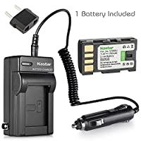 iTEKIRO AC Wall DC Car Battery Charger Kit for JVC GZ-MG157EK GZ-MG157EX GZ-MG157U GZ-MG157US GZ-MG175 iTEKIRO 10-in-1 USB Charging Cable