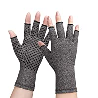 Arthritis Compression Gloves - Relieve Raynauds Disease Alleviate Rheumatoid Pains, Ease MuscleTension and Osteoarthritis,Reduce Muscle Soreness, for Women Men Grips Fingerless Design (1 Pair) Small