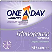 One A Day Women's Menopause Multivitamin with Vitamin A, Vitamin C, Vitamin D, Vitamin E and Zinc for Immune Health Support*, Biotin, B6, B12, & Soybean Isoflavones to Reduce Hot Flashes, 50 Count