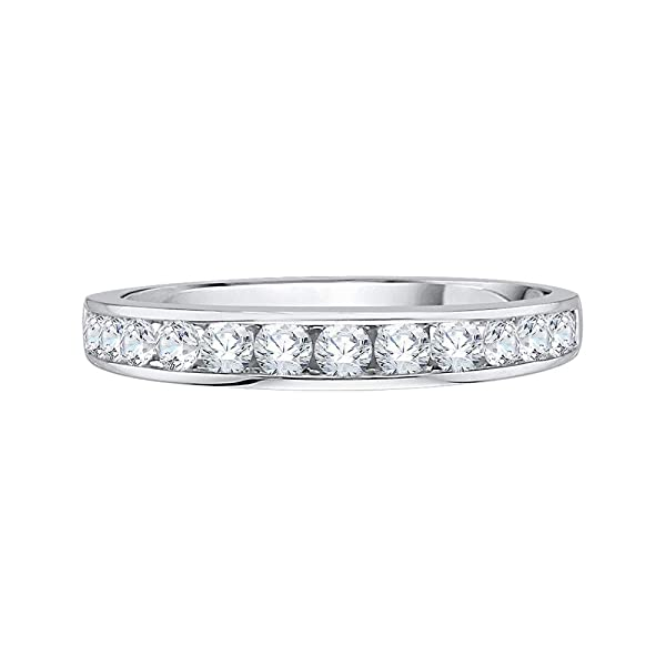 G-H,I2-I3 1//5 cttw, Size-10.5 Diamond Wedding Band in Sterling Silver