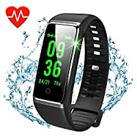 beitony Fitness Tracker, Color Screen Activity Tracker with Heart Rate Monitor Watch, IP67 Waterproof Fitness Watch with Female Physiological Reminder Sleep Blood Pressure Monitor for Kids Women Men