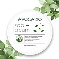 Avocado Essence Foot Cream | Non-greasy Foot Lotion for Rough, Dry, Calloused Feet, Heels and Soles | Exfoliator & Moisturizer | Organic Feet Balm for softening rough skin on feet | 3.52 fl.oz