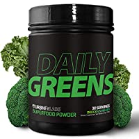 Daily Greens Organic Superfood Powder Supplement | 15 Organic Plant-Based Fruits and Vegetables in One Scoop | All Critical Vitamins, Minerals and Antioxidants for Peak Energy and Performance