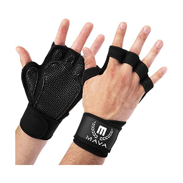 Gym Workout Weightlifting ADiPROD Crossfit Training Gloves Sports Wrist Support for Fitness WOD Silicone Padding Anti-Slip Strong Grip Men /& Women /…