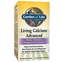 Garden of Life Bone Strength Calcium Supplement - Living Calcium Advanced Bone Health and Density Support, Vegetarian, 120 Caplets